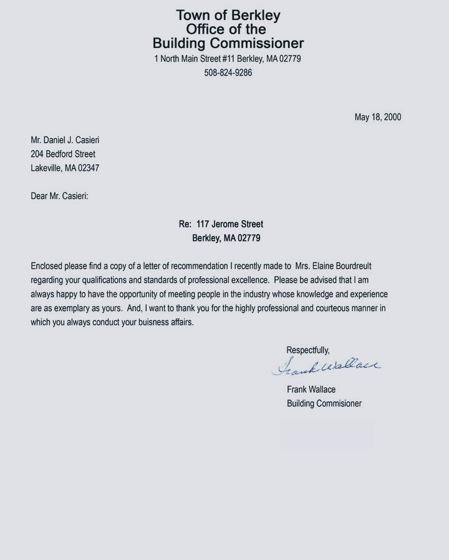 Casieri Construction Company Client Testimonial